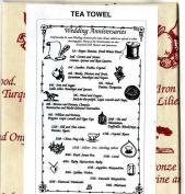 WEDDING ANNIVERSARIES Tea Towel 100% Cotton