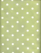 Sage Green Dotty PVC Wipe Clean Tablecloth by Karina Home 200 x 137cm