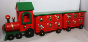 Wooden Train With Two Carriages Christmas Advent Calendar T