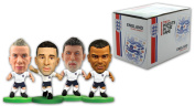 SoccerStarz 4 Figurine Blister Pack of England International Stars in The Home Kit Featuring Carrick/ Cleverley/ Cole and Walker