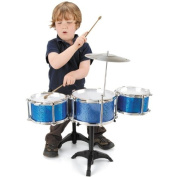 Childrens My First 1st Drum Kit Drums and Stool Set Musical Toy Instrument