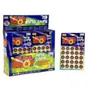 Multi Buy - 5 x Packets 8 Shot Ring Caps - Total 125 Rings