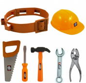 Childrens Boys Girls Toy Play Builder Work Man Hard Hat Tool Belt & Tools