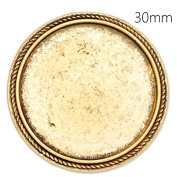 Retro Style Antique Gold Plated Brooch Blanks with 30mm Round Bezel-Safety Pin Fastening-10pcs/lot