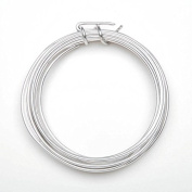 Aluminium Jewellery Wire - 12 Gauge - Silver - 3 yards