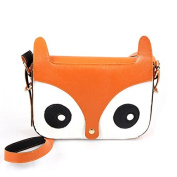 Fox Owl Retro Shoulder Messenger Bag Satchel Handbag,orange