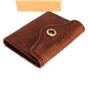 Men Money Oiled Cow Genuine Leather Slim Wallet Coin Natural Pocket Purse Au Retro Style.