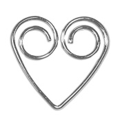 Heart Shaped Paper Clips Silver