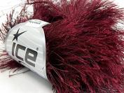 Burgundy Extra Long Eyelash Yarn Ice Luxurious Fun Fur 50gr 38yds 14157