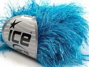Turquoise Extra Long Eyelash Yarn Ice Luxurious Fun Fur 50gr 38yds 13270