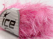 Pink Extra Long Eyelash Yarn Ice Luxurious Fun Fur 50gr 38yds 13273