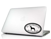 Dog Laptop Decal - All you need is love cute oval dog vinyl sticker art