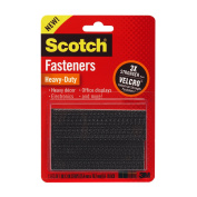 Scotch(R) Heavy-Duty Fasteners, 2 Sets of 2.5cm x 7.6cm , Strips ,Black