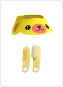 Adjustable Baby Kid Safe Shampoo Protect Hat with Brush and Comb Set
