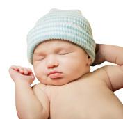 """Infanteenie Beenie """"Blue & White"""" Blue & White Newborn Hospital Hat"""