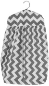 Baby Doll Chevron Nappy Stacker, Grey