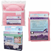 NuAngel Flip and Go Nursing Pad Case with Nursing Blanket and All-Natural Cotton Nursing Pad Set, Pink