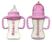 Thinkbaby BPA Free No Spill Sippy Cup & Thinkster Straw Bottle, Pink