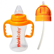 Thinkbaby BPA Free No Spill Sippy Cup with Straw Bottle Conversion Kits