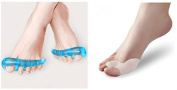 Gel Flex Toe/ Heel Stretchers Relax, ivory and blue