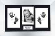 Anika-Baby BabyRice Baby Hand and Footprints Kit includes Black Inkless Prints/ Silver Frame with Black Mount Display