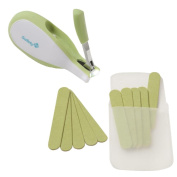 Safety 1st Sleepy Baby Nail Clipper with Emery Boards, Spring Green
