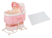 Summer Infant Soothe & Sleep Bassinet with Motion & Waterproof Bassinet Pad