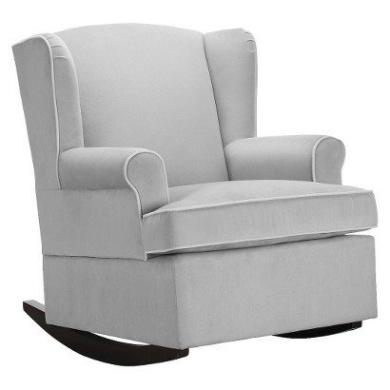 Eddie Bauer® Wingback Upholstered Rocker - Grey - Wingback Chair ...