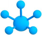 Modern Littles Atom Solid Blue Multi Purpose Coat Hook- 3 Pack