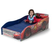 Lighting McQueen Wooden Toddler Bed, Uses A Standard Crib Mattress
