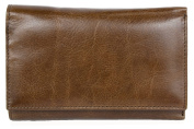 Women's Medium Brown Genuine Leather Wallet Without Any Logos or Markings
