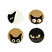 Cat Eyes Small 8.9cm Plate Set of 4 Assorted
