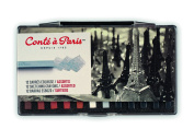 Conté à Paris Sketching Crayons Set with 12 Assorted Colours