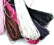 Rockin Beads Brand, Mixed Waxed Cotton Beading Jewellery and Craft Cord 500 Yards Approx 1mm Thick