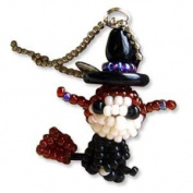 Kit, Miyuki Delica Beads & Crafts, Halloween Mascot Fan, Makes 3.6cm Charm & Chain No.47 Witch