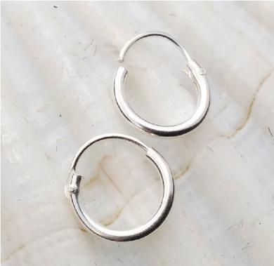 Ultra Small HOOP Earrings, 8mm,sterling silver,endless hoops,nose,cartilage,ears,lips