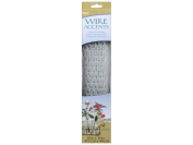 Darice 25036.7-386.1lanized Chicken Wire Net for Craftwork, 46cm by 100cm , Painted White