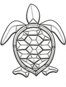 Clear Bevelled Glass Sea Turtle Bevel Cluster for Stained Glass Work