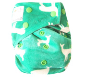 "Kawaii Baby Bamboo Charcoal One Size Cloth Nappy with 2 Four Layers Inserts "" Reindeer """