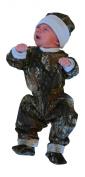 Mossy Oak Baby Set - Infant Boys LS Creeper Pants Hat Booties 4PC Gift Set
