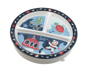 SugarBooger Divided Suction Plate, Ocean