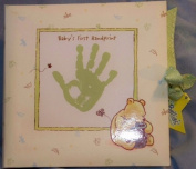 Classic Pooh Disney Keepsake Baby's First Handprint Plaster Kit. Plaster with Mint Green Display Box