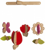 Petit Collage Bamboo Deluxe Mobile - Flower