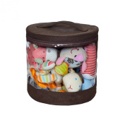 JJ Cole Clear Storage Bin Set, Cocoa