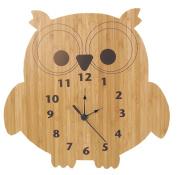 Trend Lab Bamboo Wall Clock, Owl