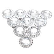 Pack of 10 Round Pull Handle Crystal Rhinestone Knob for Cupboard Drawer Wardrobe