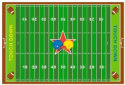 Fun Rugs FT-121 3958 Football Field Childrens Rug, 100cm by 150cm