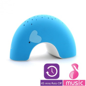 """Lumitusi - Blue Elly """"Easy Clean, Lullaby"""" Twilight Constellation Elephant Projector Night Light with Music, Rubber Finishing"""