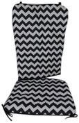 Baby Doll Chevron Rocking Chair Pad, Black