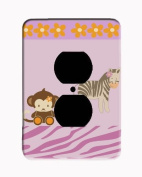 Giraffe Monkey Jungle Electrical Outlet Cover